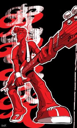 כוכב רוק אנד רול - אדום