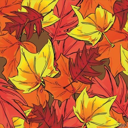 Leafs autumn down