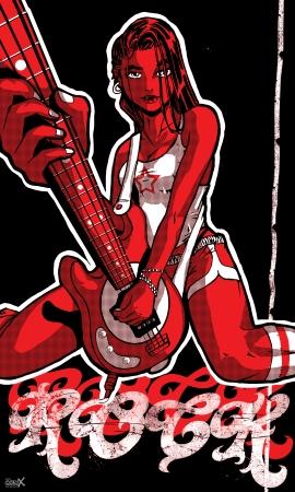 נערת רוק - אדום