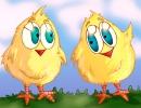 שני אפרוחים צהובים