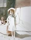 ילדה באור וצל