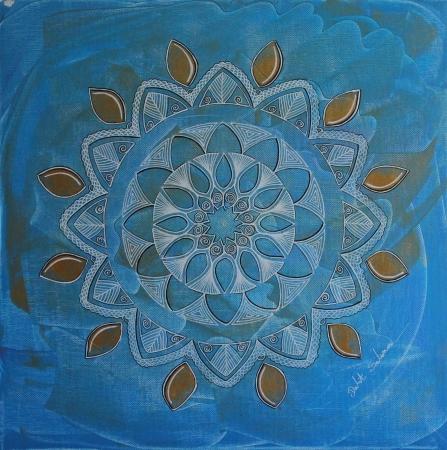 מנדלה בכחול וזהב