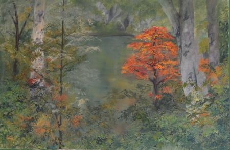 עץ באגם