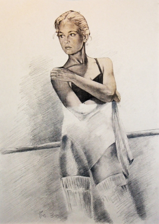 רקדנית בסטודיו