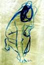 נערה בכחול