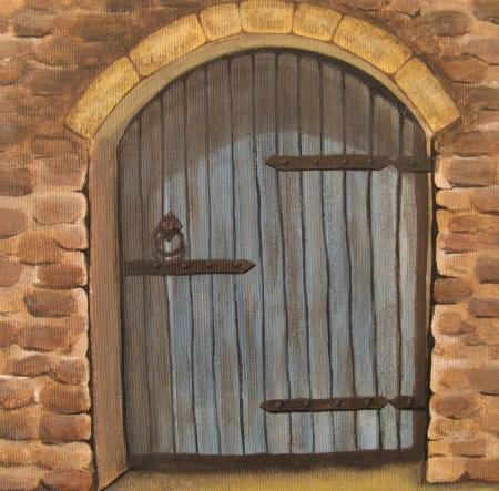 דלת עץ