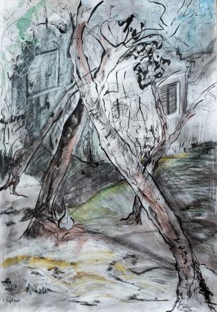 עצים ובית