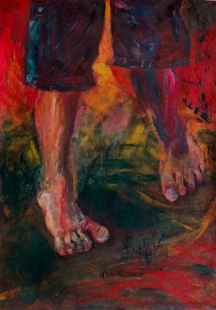 רגליים של ילדה