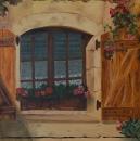 גרניום בחלון