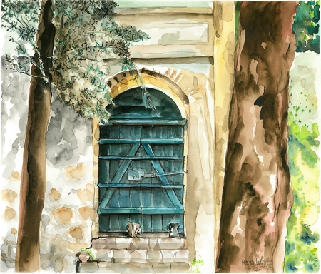 דלת בגן