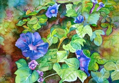 פרח מטפס כחול