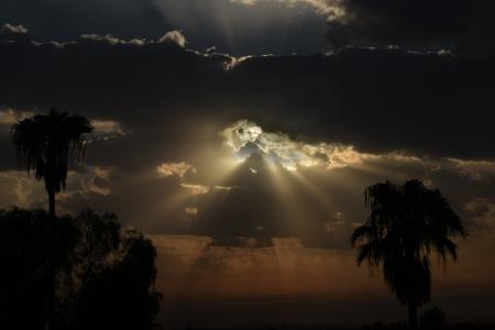 אורות בשקיעה