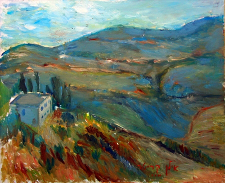 נוף הרים בצפת