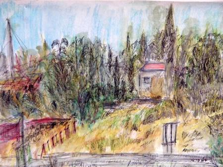 חצר במושב באזור ירושלים