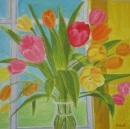 אגרטל עם פרחים