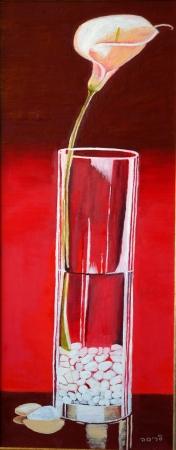 כוס עם פרח