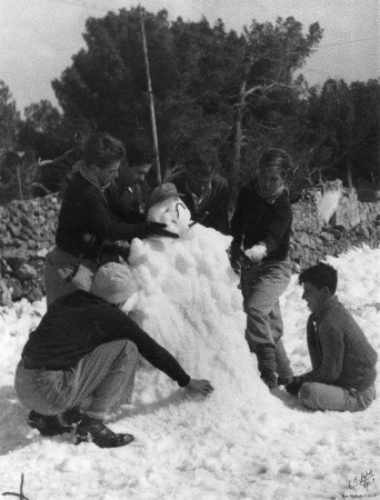 ירושלים ינואר 1946 - שלג