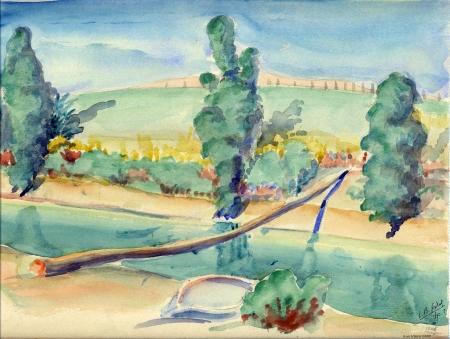 קורה מעל נהר הירדן - 1945