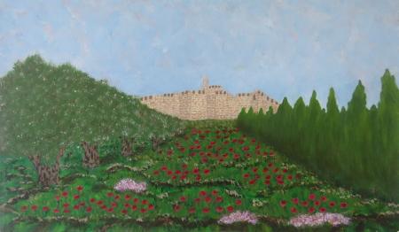 כלניות במגדל דוד בירושלים
