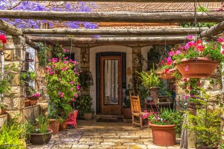 כניסה ציורית לבית