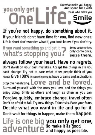One life 1