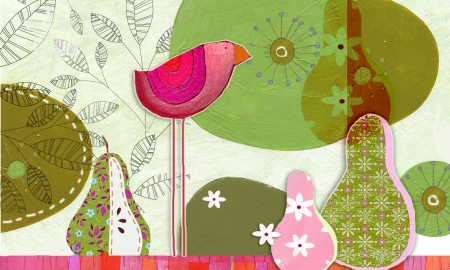 birds and pears