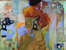 אשה בשמלת זהב