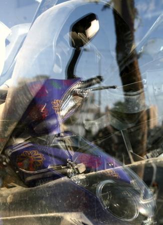 אופנוע סגול
