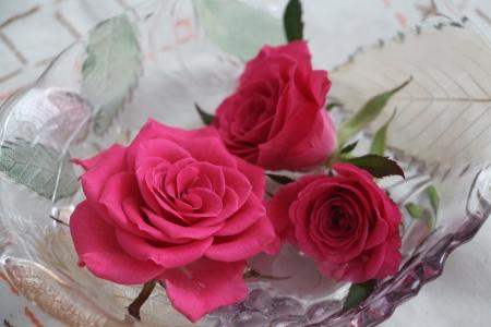 ורדים בצלוחית