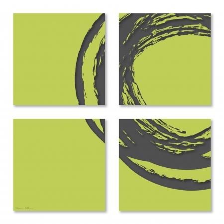 עיגול באפור ירוק
