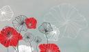 פרחי מים אפור