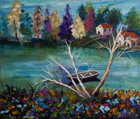 שלווה באגם