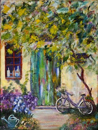 אופניים בחצר