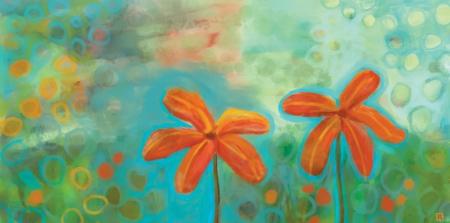 פרחים בכתום