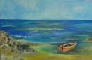 סירה בחוף הים