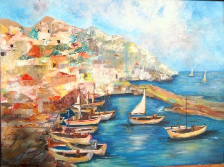 סירות במעגן(יוון)