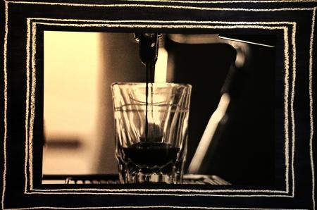 קפה שחור-לבן