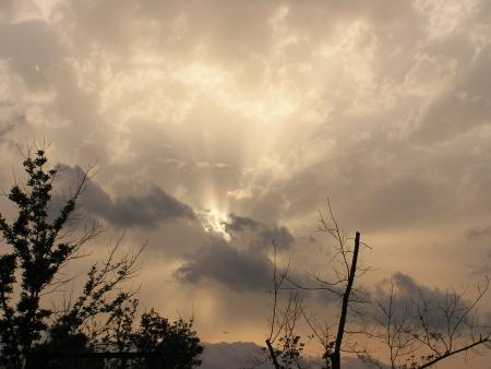 שקיעה בשמיי ענן