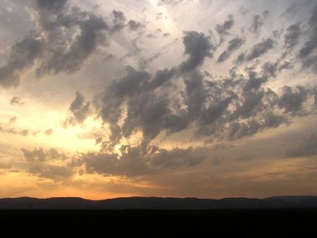 ערב מעל הרי הכרמל