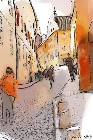 רחוב בתנועה