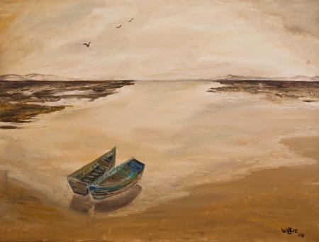 סירות בשקיעה