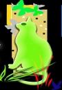 חתול ירוק