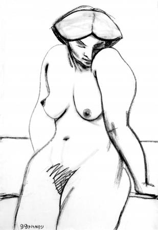 אישה נשענת מאחור