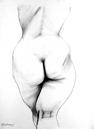 עירום אישה מאחור