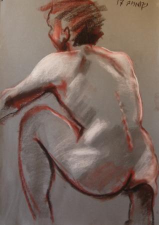 גבר עירום מן הגב