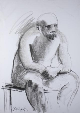 גבר יושב