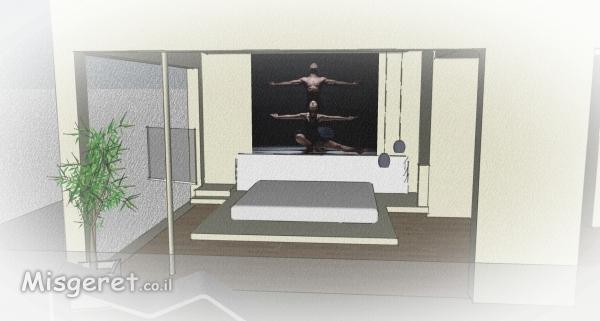 הדמייה לחדר שינה