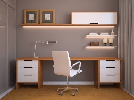 עיצוב של חדר עבודה צעיר | עיצוב פנים