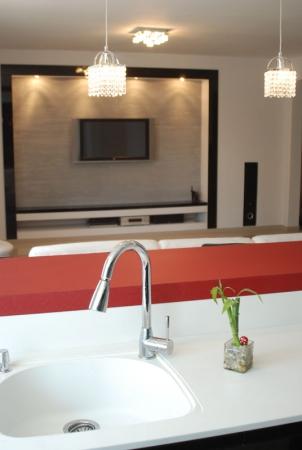 עיצוב של מבט מהמטבח לסלון | עיצוב פנים