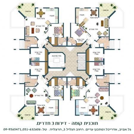 עיצוב של תכנית קומה | עיצוב פנים